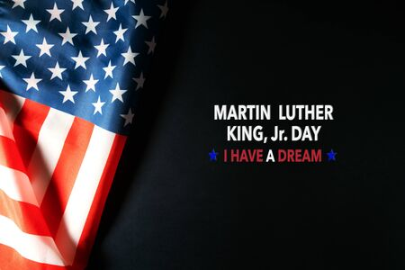 Photo pour Martin Luther King Day Anniversary - American flag abstract background - image libre de droit