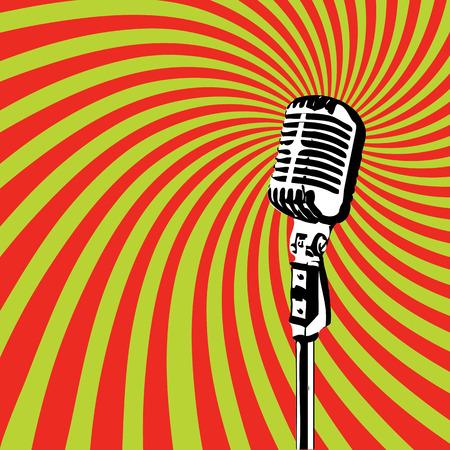 Illustrazione per Retro Microphone for Karaoke Parties 2 - Immagini Royalty Free