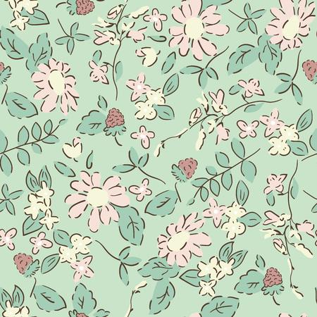 Illustration pour Delicate pattern in small flower. shabby chic - image libre de droit