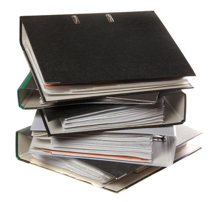 stack of folders as symbol for lot of work