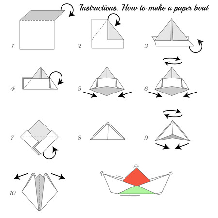 How to Make a Paper Boat - Origami for Kids - Easy Peasy and Fun | 450x450