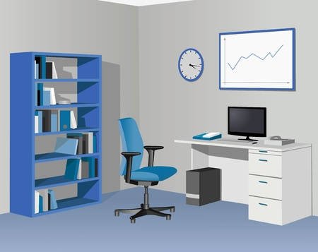Cabinet office in blue.