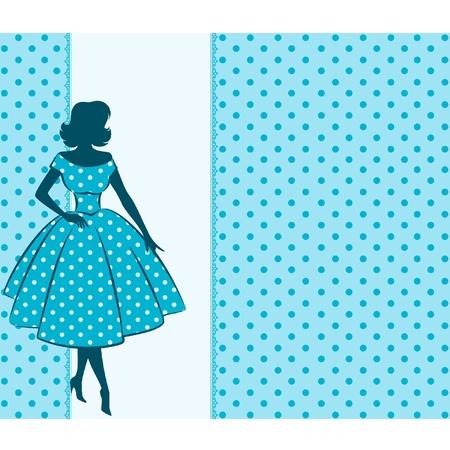 Foto de Vintage silhouette of girl - Imagen libre de derechos