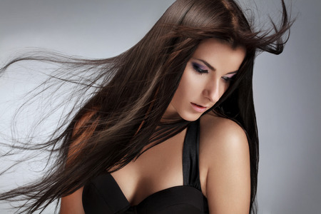 Beautiful Woman with Healthy Long Hair.