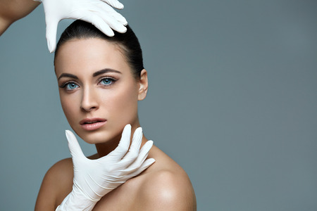 Photo for Beautiful Woman before Plastic Surgery Operation Cosmetology. Beauty Face - Royalty Free Image