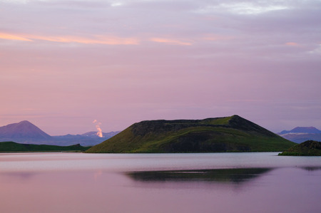 Pseudocrater at Myvatn Lake in northern Iceland