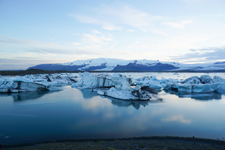 Photo pour Landscape scenery with ice, Jokulsarlon in Iceland - image libre de droit
