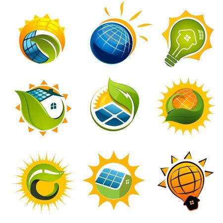 Illustration pour SET OF SOLAR Technology vector elements - image libre de droit