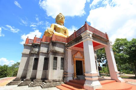 seated budda image Wat Phu Chang Noi at chengkan District Loey Province Thailand