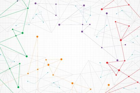 Illustration pour Abstract colorful geometric background, low poly - image libre de droit