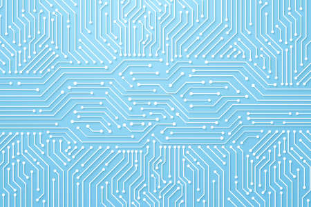 Ilustración de Abstract Technology Background, circuit board pattern - Imagen libre de derechos