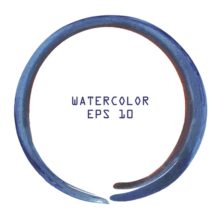 Abstract colorful watercolor circle hand paint on white background