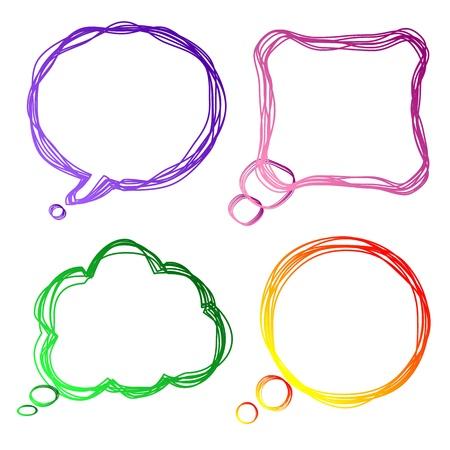 Set of colorful speech Bubbles,  illustration