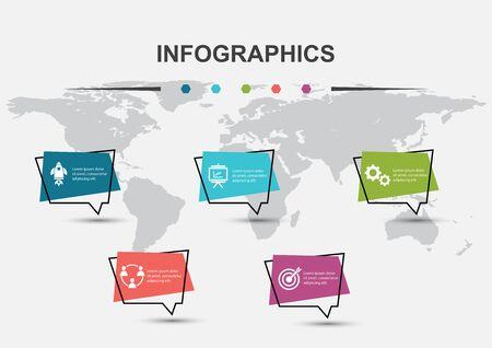 Photo pour Infographic design template with speech bubbles, stock vector - image libre de droit