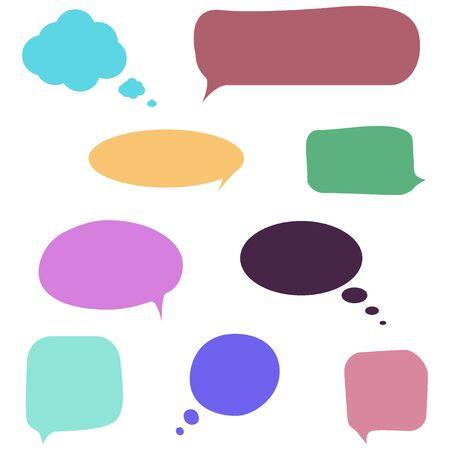 Illustration pour Speech bubbles vector set - image libre de droit