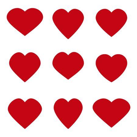 Photo pour Heart vector icon. Valentines day. Heart symbol. Set - image libre de droit