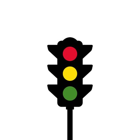 Illustration for Traffic light vector icon - Royalty Free Image