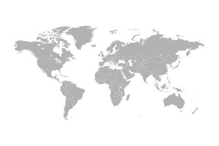 Illustration pour World map vector abstract illustration - image libre de droit