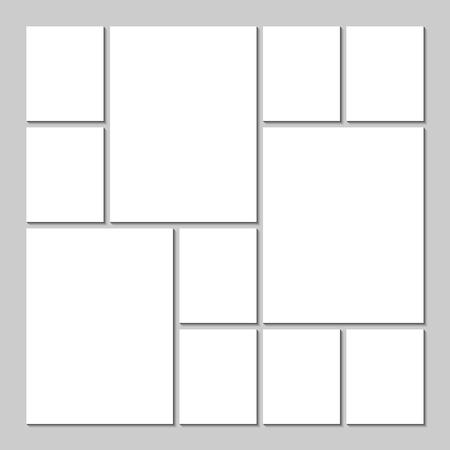 Illustration pour Mood board template - image libre de droit