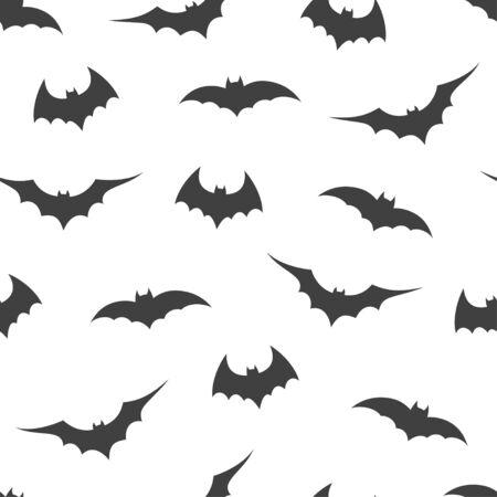 Illustration pour Seamless pattern with bats on white background, vector illustration - image libre de droit