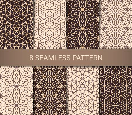 Illustration pour Set of abstract geometric seamless patterns artwork, vector illustration - image libre de droit