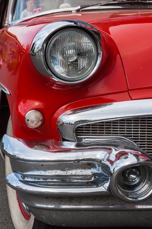 Foto für Red 1956 Buick Special front with headlamp - Lizenzfreies Bild