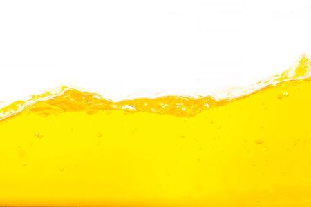 Photo pour Orange water splash, Orange  Water Surface Splash and bubbles on white background. - image libre de droit