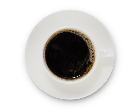 Photo pour coffee cup top view  isolated on white background. with clipping path. - image libre de droit