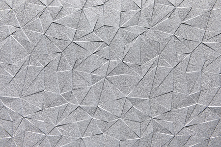 Photo pour Grey silver steel surface with abstract triangle pattern texture background. - image libre de droit
