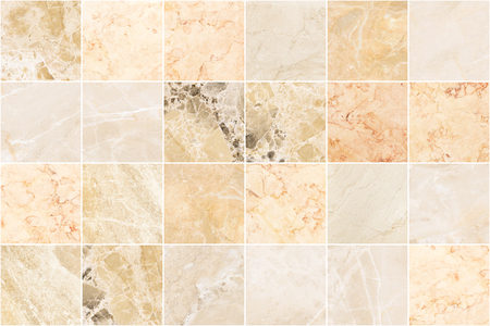 Photo for Beige marble wall tile texture background. Square marble tile with natural pattern. - Royalty Free Image