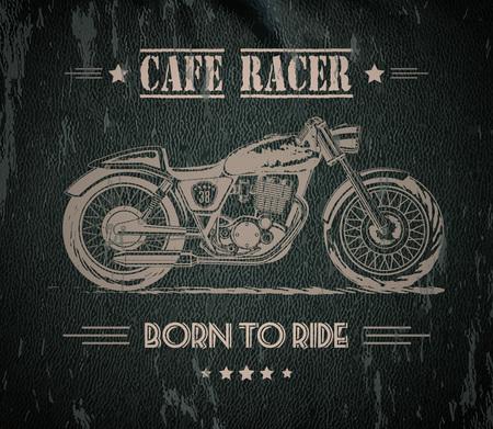 Illustration pour Motorcycle graphic banner - image libre de droit
