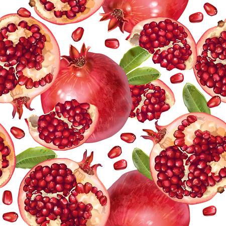 Illustration pour Pomegranate seamless pattern - image libre de droit