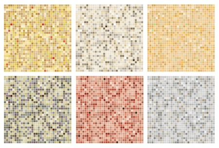 Seamless mosaic tile pattern in neutral colours