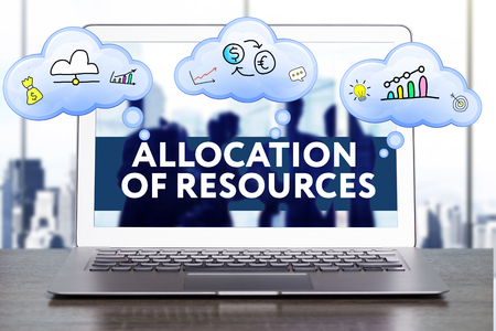 Marketing Strategy. Planning Strategy Concept. Business, technology, internet and networking concept. Allocation of resources