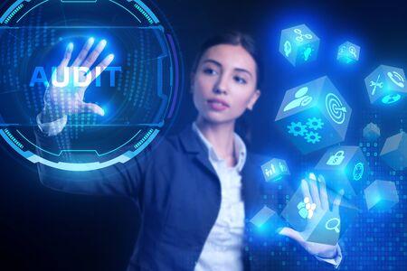 Photo pour Business, Technology, Internet and network concept. Audit business and finance concept. - image libre de droit