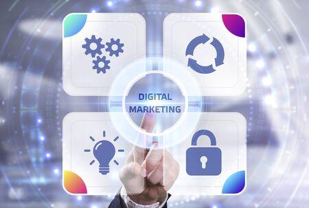 Photo pour Business, Technology, Internet and network concept. Digital Marketing content planning advertising strategy concept - image libre de droit