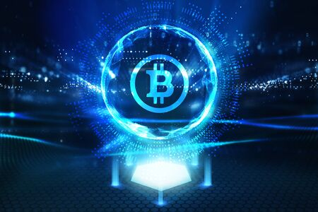 Photo pour Business, Technology, Internet and network concept. ICO Initial Coin Offering. - image libre de droit