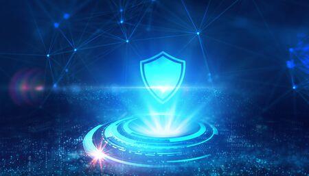 Photo pour Cyber security data protection business technology privacy concept.  - image libre de droit