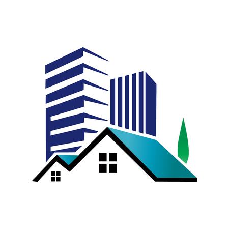 Illustration pour Apartment House Real Estate Icon Design Element - image libre de droit