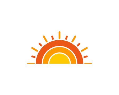 Illustration for Sun Icon Logo Design Element - Royalty Free Image