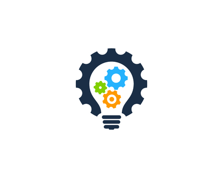 Illustration pour Gear Icon Logo Design Element - image libre de droit