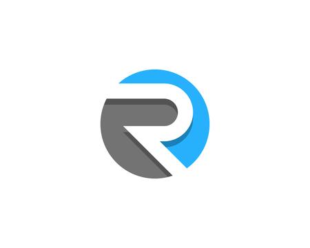 Letter R Icon Logo Design Element