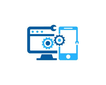 Ilustración de Fix Repair Icon Logo Design Element - Imagen libre de derechos