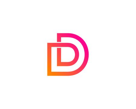Illustration pour Letter D Icon Logo Design Element - image libre de droit