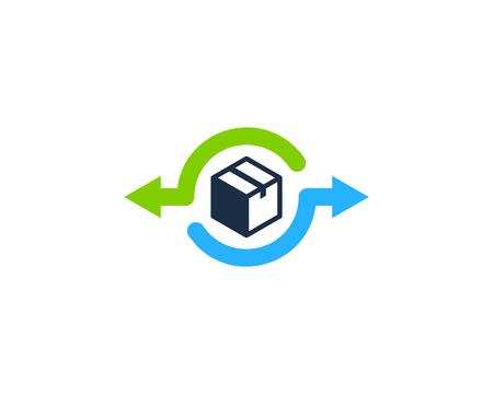 Ilustración de Transfer Box Logo Icon Design illustration graphic design vector - Imagen libre de derechos