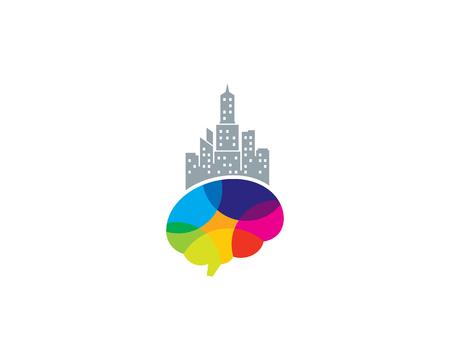 Town Brain Logo Icon Design