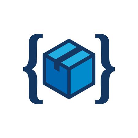 Box Code Icon Design