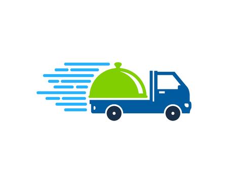Illustration pour Menu Delivery Logo Icon Design - image libre de droit