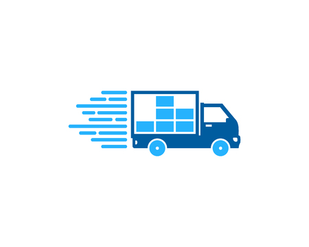 Photo for Data Delivery Logo Icon Design - Royalty Free Image