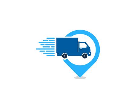 Illustration pour Point Delivery Logo Icon Design - image libre de droit